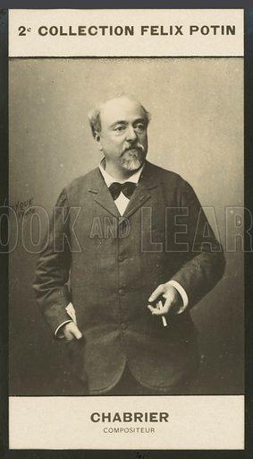 Alexis-Emmanuel Chabrier, Compositeur, 1842-1894. Illustration for 510 Celebrites Contemporaines, 2me Collection, Felix Potin.  Only suitable for repro at small size.