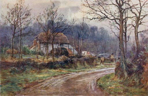 The Land of Grateful Memories. Illustration for Highways & Hedges described by Herbert Arthur Morrah (A&C Black, 1911).
