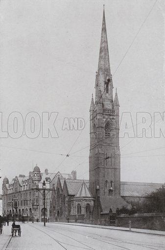 St Mary's Roman Catholic Cathedral. Illustration for a booklet of Fine Art Photographic Views of Newcastle, c 1895.