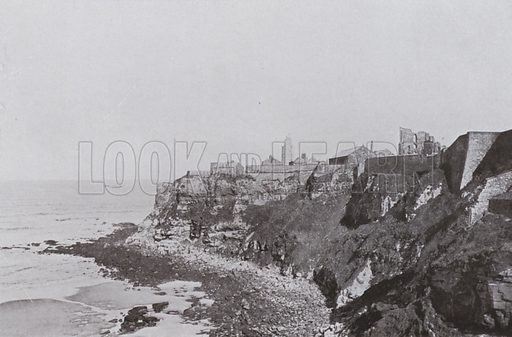 Tynemouth Cliffs. Illustration for a booklet of Fine Art Photographic Views of Newcastle and area, c 1895.