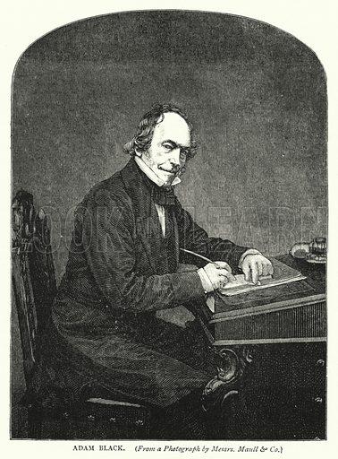 Adam Black. Illustration for Cassell's Old and New Edinburgh (c 1885).