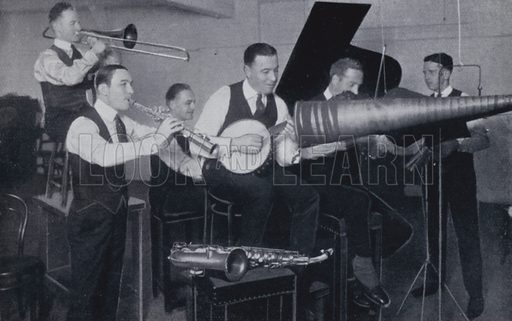 The late Bert L Ralton and his New York Havana Band. Illustration for Rhythm on Record, a suvery of dance music from 1906 to 1936 (Melody Maker, 1936).