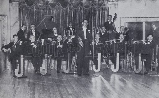 Jack Jackson and his Orchestra. Illustration for Rhythm on Record, a suvery of dance music from 1906 to 1936 (Melody Maker, 1936).