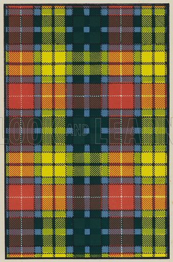 Buchanan. Illustration for The Scottish Clans and Their Tartans, Library Edition (W A K Johnston, c 1930).