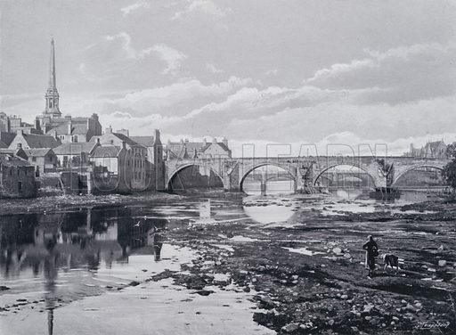 The Twa Brigs of Ayr. Illustration for Sights and Scenes in Scotland (Cassell, c 1895).