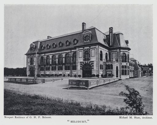 """""""Belcourt."""" Illustration for Stately Homes in America by Harry W Desmond and Herbert Croly (D Appleton, 1903)."""