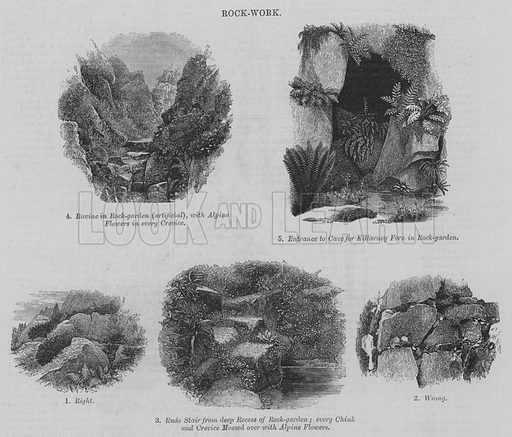 Rock Work. Illustration for The Builder, 7 May 1870.