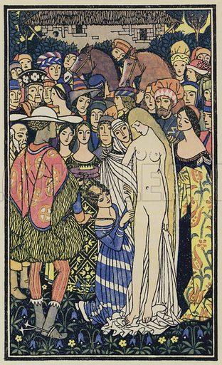 Griselda. Illustration for The Decameron of Boccaccio (Chatto and Windus, 1920).