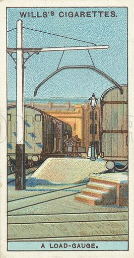 """A load-guage. Illustration for one of a series of cigarette cards on the subject of """"Do You Know"""" published by Wills's Cigarettes, early 20th century."""