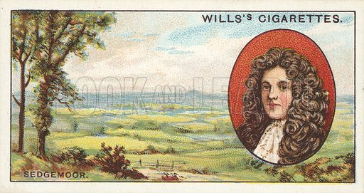 "Sedgemoor. Illustration for one of a series of cigarette cards on the subject of ""Do You Know"" published by Wills's Cigarettes, early 20th century."