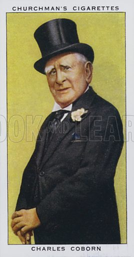 Charles Coborn, Music Hall Artist. Illustration for one of a set of cigarette cards on the subject of In Town Tonight, published by Churchman, early 20th century.