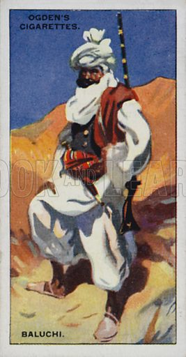 Baluchi. Illustration for one of a set of cigarette cards on the subject of Picturesque People of the Empire, published by Ogden's, early 20th century.