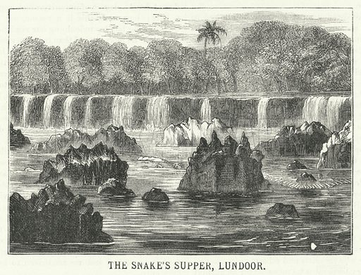 The Snake's Supper, Lundoor. Illustration for The Fireside Annual, 1877.