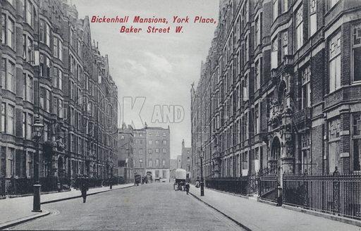 Bickenhall Mansions, York Place, Baker Street, Marylebone, London