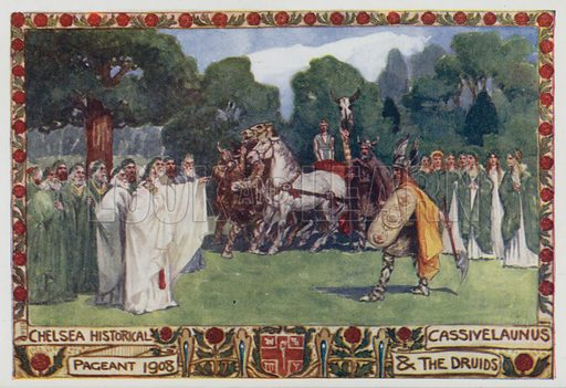 Cassivelaunus and the druids, Chelsea Historical Pageant, 1908