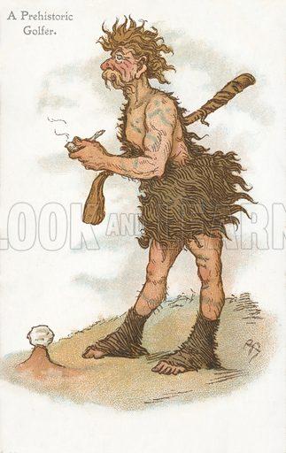 A prehistoric golfer