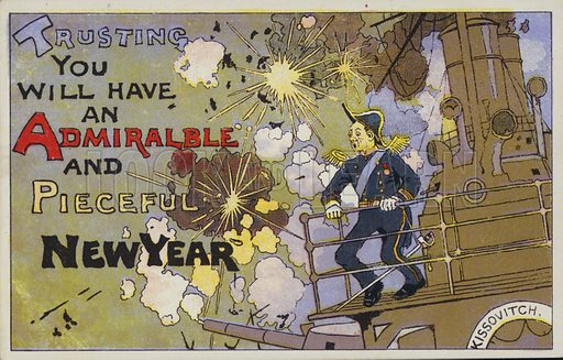 Naval themed Christmas card