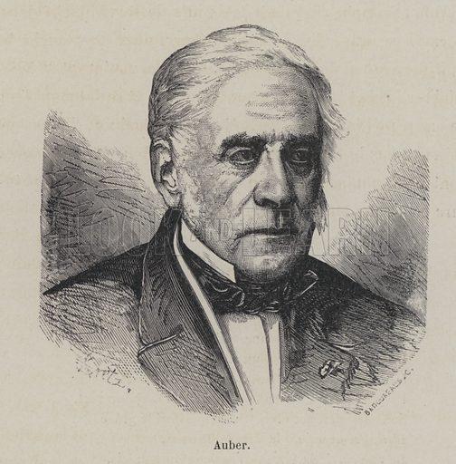 Daniel Auber (1782–1871), French composer. Illustration from Les Legendes de l'Art: Musiciens (Librairie d'Education A Hatier, Paris, c1890).