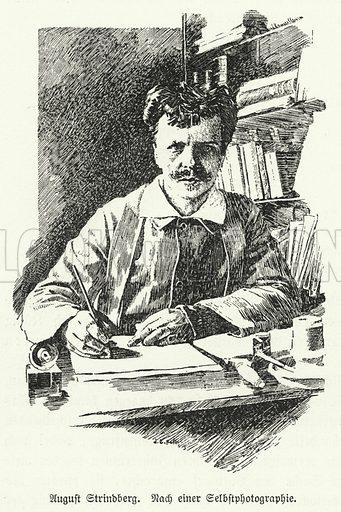 August Strindberg (1849–1912), Swedish playwright, novelist, poet and artist. Illustration from Illustrierte Geschichte der Wellitteratur, by Dr Johannes Scherr (Frank sche Verlagsbuchhandlung, Stuttgart, c1895).