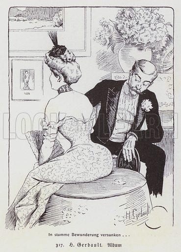Illustration from Die Frau in der Karikatur (Women in Caricature) by Eduard Fuchs (Albert Langen, Munich, 1907).