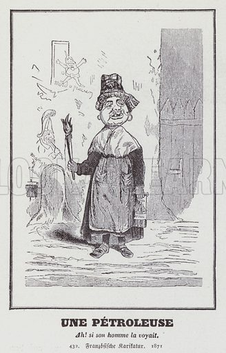 French caricature of a Petroleuse, a female supporter of the … stock image  | Look and Learn