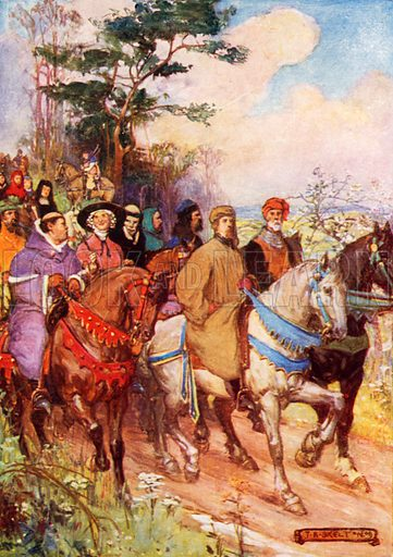 Chaucer's pilgrims, led by himself