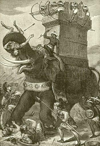 War elephant in the army of King Darius
