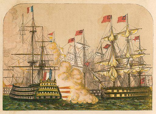 Battle of the Nile, picture, image, illustration