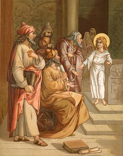 Jesus, as a boy, in the Temple