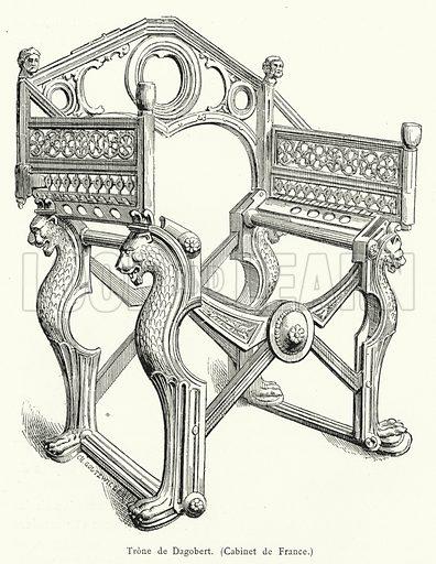 Trone de Dagobert. Illustration for Les Chroniqueurs de l'Histoire de France by Madame de Witt (Hachette, 1883).