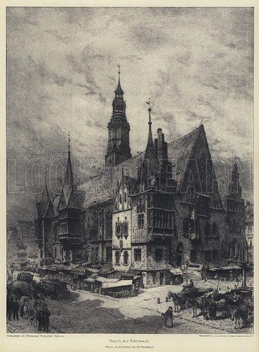 Breslau Rathaus. Illustration for The Building News, 8 April 1892.