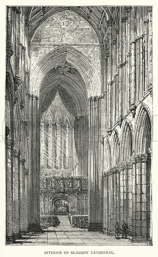 Interior of Glasgow Cathedral. Illustration for Leaders Upward and Onward edited by Henry C Ewart (William Isbister, c 1890).