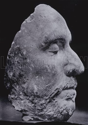 Death Mask of Cromwell in the Ashmolean Museum, Right Profile
