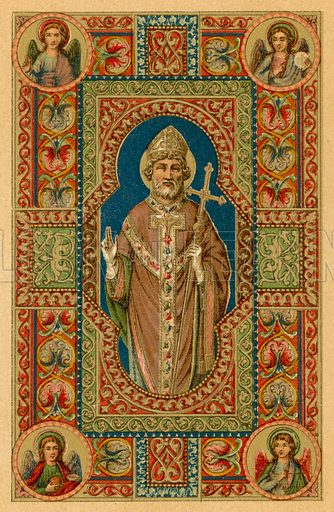 S Ignatius Patriarcha. Illustration for Vie des Saints by Henry de Riancey with illustrations after manuscripts by Kellerhoven (abridged edn, Bachelin Deflorenne, c 1873).