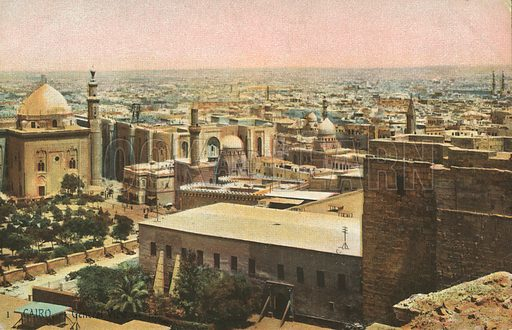 Cairo, General View. Postcard, early 20th century.