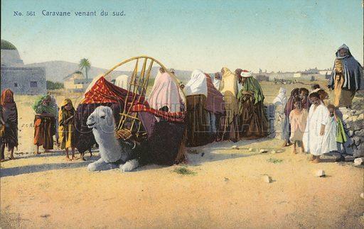 Caravane venant du sud. Postcard, early 20th century.