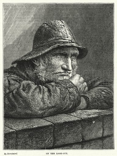 On the Look-Out. Illustration for The British Workman (1873).