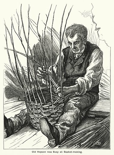Old Hopson was Busy at Basket-making