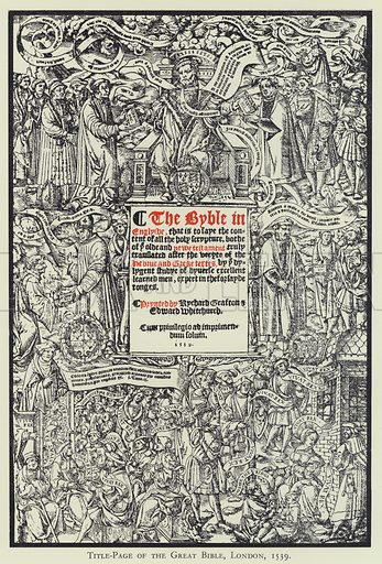 Title-Page of the Great Bible, London, 1539. Illustration for The Brotherton Library, a catalogue compiled by John Alexander Symington (Leeds, 1931).
