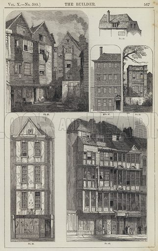 278471eec08 The Houses and Shops of Old London - Look and Learn History Picture ...