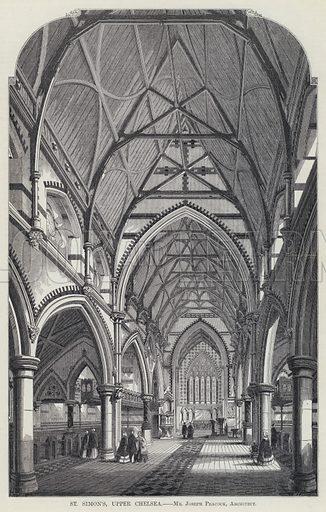 St Simon's, Upper Chelsea, Mr Joseph Peacock, Architect. Illustration for The Builder, 20 August 1859.