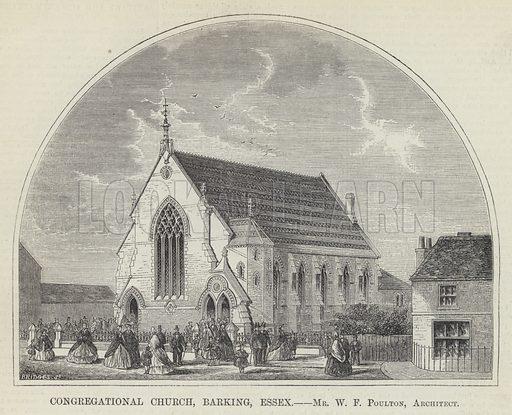 Congregational Church, Barking, Essex, Mr WF Poulton, Architect. Illustration for The Builder, 12 September 1863.