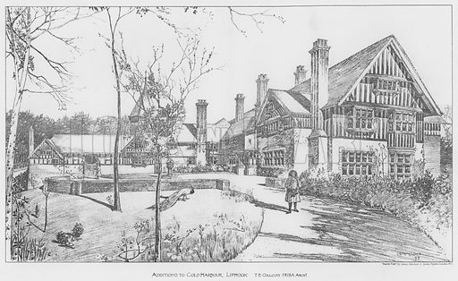 Additions to Cold Harbour, Liphook. Illustration for The Building News, 3 January 1896.