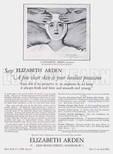 Advertisement, 1925.  Illustration for The Debutante and Court Illustrated (John Horn, 1925).