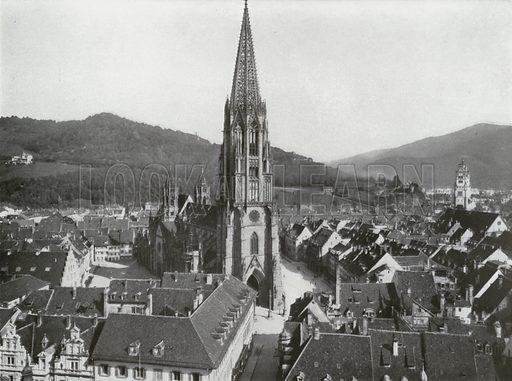 Freiburg i B. Illustration for Das Deutsche Reich In Wort Und Bild (Gustav Lange, c 1905).