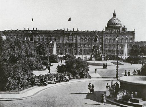 Berlin, Lustgarten mit Schloss und Denkmal Friedrich Wilhelms III. Illustration for Das Deutsche Reich In Wort Und Bild (Gustav Lange, c 1905).