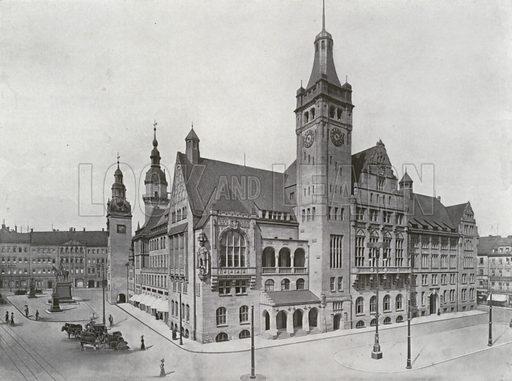 Chemnitz, Neues Rathaus. Illustration for Das Deutsche Reich In Wort Und Bild (Gustav Lange, c 1905).