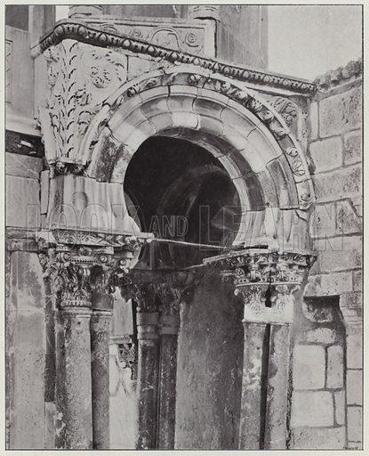 Jerusalem, Pulpit of Khadi Barhan-Ed-Din, parts. Illustration for Album de Terre Sainte (Holy Land Album) (Maison de la Bonne Presse, c 1900).