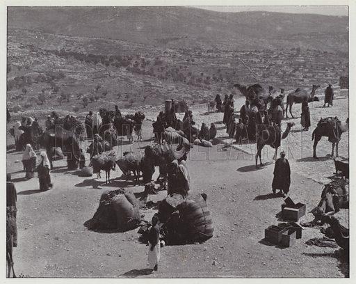 Bethlehem, View of the Market. Illustration for Album de Terre Sainte (Holy Land Album) (Maison de la Bonne Presse, c 1900).