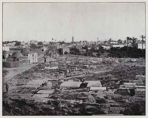 Gaza, General view. Illustration for Album de Terre Sainte (Holy Land Album) (Maison de la Bonne Presse, c 1900).